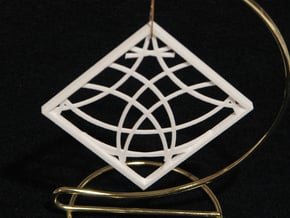 Ornament 03e in White Natural Versatile Plastic