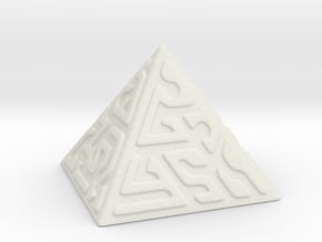 Glyph Pyramid in White Natural Versatile Plastic