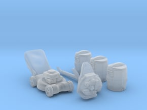 Garden Tools 1:64 (S Scale) in Smooth Fine Detail Plastic