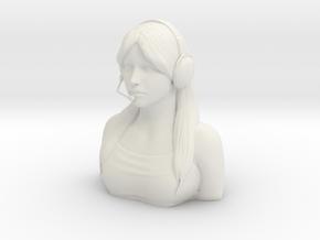 Female Pilot Figure 1/4 in White Natural Versatile Plastic