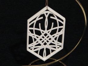 Ornament 04e in White Natural Versatile Plastic