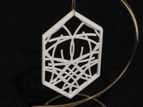 Ornament 04d in White Natural Versatile Plastic