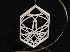 Ornament 04f in White Natural Versatile Plastic