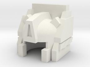 Robohelmet: Archie in White Natural Versatile Plastic