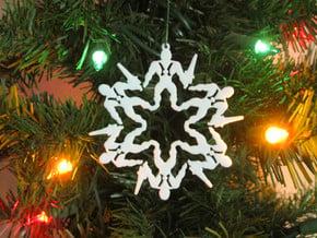 Snowflake He-Man Ornament in White Natural Versatile Plastic