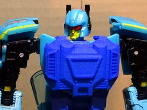 Gen. Siren (G1 Version) Chestplate in Blue Processed Versatile Plastic