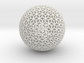Diamond Sphere Mesh in White Natural Versatile Plastic