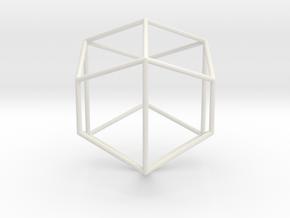 TrapRhombDodec 70mm in White Natural Versatile Plastic