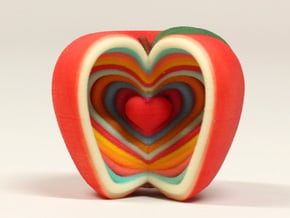 Growing Heart Apple in Full Color Sandstone
