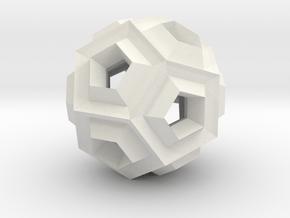 Dodeca Dill - 2.3cm in White Natural Versatile Plastic