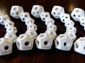 30-Cell Puzzle in White Natural Versatile Plastic