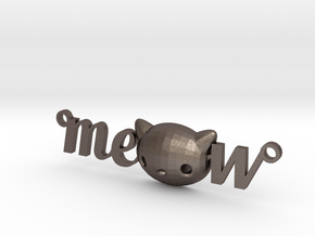 Meow Necklace by it's  a CYN!  in Polished Bronzed Silver Steel