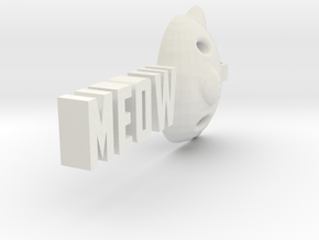 Meow pendant by it's a CYN! in White Natural Versatile Plastic
