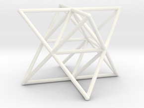 Rod Merkaba Supports 6cm in White Processed Versatile Plastic