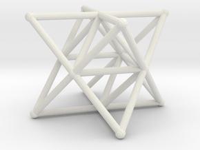 Rod Merkaba Supports 4cm in White Natural Versatile Plastic