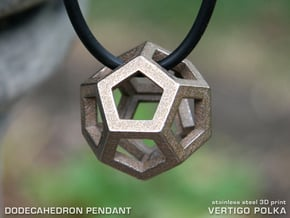 Dodecahedron in Polished Bronzed Silver Steel