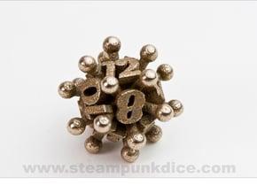 Jack d12 in Polished Bronzed Silver Steel