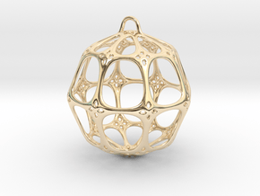 Christmas Bauble No.4 in 14K Yellow Gold