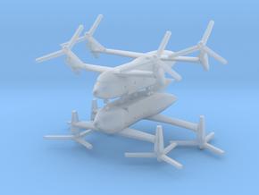 1/700 Bell Boeing Quad Tiltrotor Transport (x2) in Smooth Fine Detail Plastic