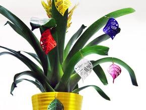 Leaf earrings in White Natural Versatile Plastic