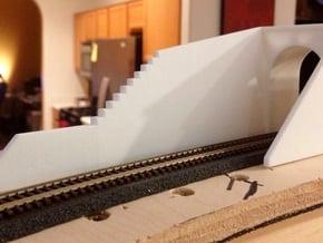 N-Scale Tehachapi Tunnel #17 East in White Natural Versatile Plastic