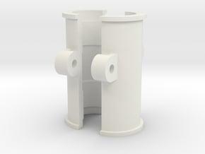 Feiyu-Tech G4S GoPro Clamp - 'Super Tough' Version in White Natural Versatile Plastic