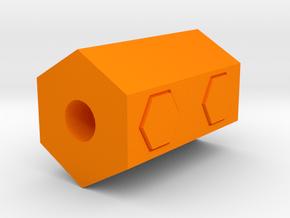 Hexagon Airsoft Muzzle Suppressor (14mm Self-Cutti in Orange Processed Versatile Plastic
