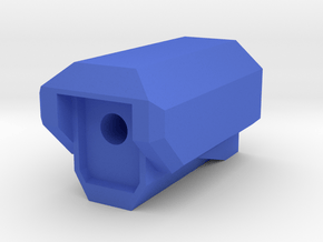Rifle SciFi Airsoft Muzzle Compensator in Blue Processed Versatile Plastic