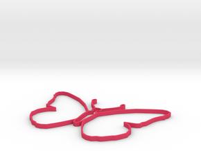 Open Wire Monarch in Pink Processed Versatile Plastic