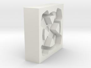 Commons Cross Tatzen Gußform in White Natural Versatile Plastic