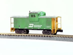 Widevision Caboose - Zscale in Smooth Fine Detail Plastic