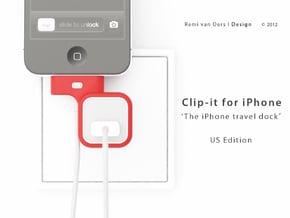 Clip-it US edition in Red Processed Versatile Plastic
