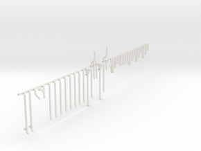 Details pack 4. 00 scale Chimney Pots and Downpipe in White Natural Versatile Plastic