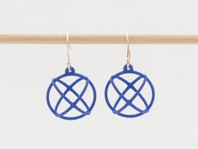 Orbit Earrings in Blue Processed Versatile Plastic