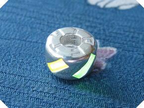 Fiver Tritium Bead (Pandora Thread) in Polished Silver