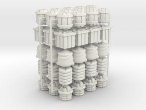 Goods Tokens (5 sets of 13 pcs) (65 pcs) in White Natural Versatile Plastic