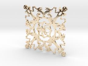 Nightmare Snowflake in 14K Yellow Gold