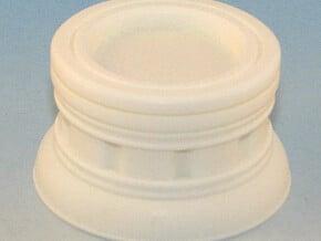 25mm Round Plinth in White Natural Versatile Plastic