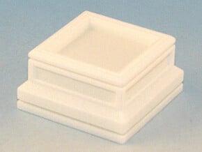 20mm Square Plinth in White Natural Versatile Plastic