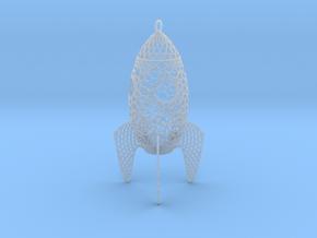 Rocket Filigree Ornament in Smooth Fine Detail Plastic