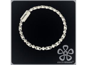 Fine barrel chain short necklace. in White Natural Versatile Plastic