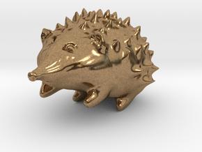 Hedgehog in Natural Brass
