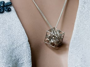GOD's DICE & Pendant - 18mm - Precious Metal in Natural Silver