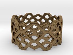 Hexagon ring - size 7.25 in Natural Bronze