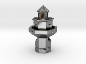 Hilton Head Lighthouse in Fine Detail Polished Silver