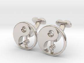 Karma Cufflinks, Part of NEW Spirit Range in Platinum