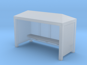 Bus Stop Shelter - Zscale in Smooth Fine Detail Plastic