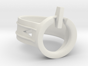 Power Ring Size 6 in White Natural Versatile Plastic