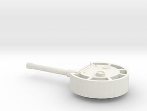 Turret European #1, heavy armour (n-scale) in White Natural Versatile Plastic