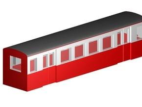 Parkeisenbahnwagen (Zf, 1:220, 3mm) in Smooth Fine Detail Plastic